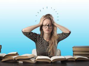 tension y nervios en un examen