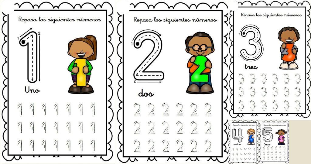 Cuadernillo Para Repasar Los Números Del 1 Al 30