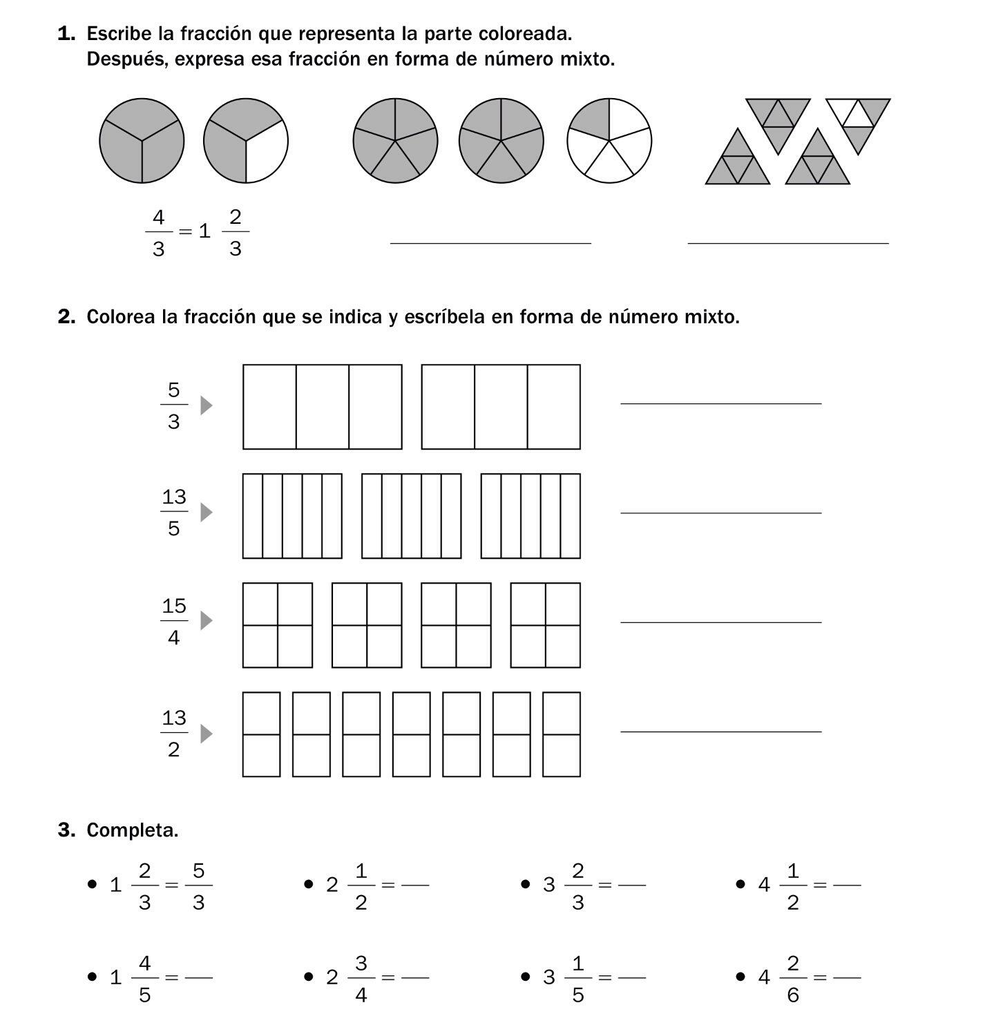 Ejercicios De Lectura Y Escritura De Fracciones - PDF ...