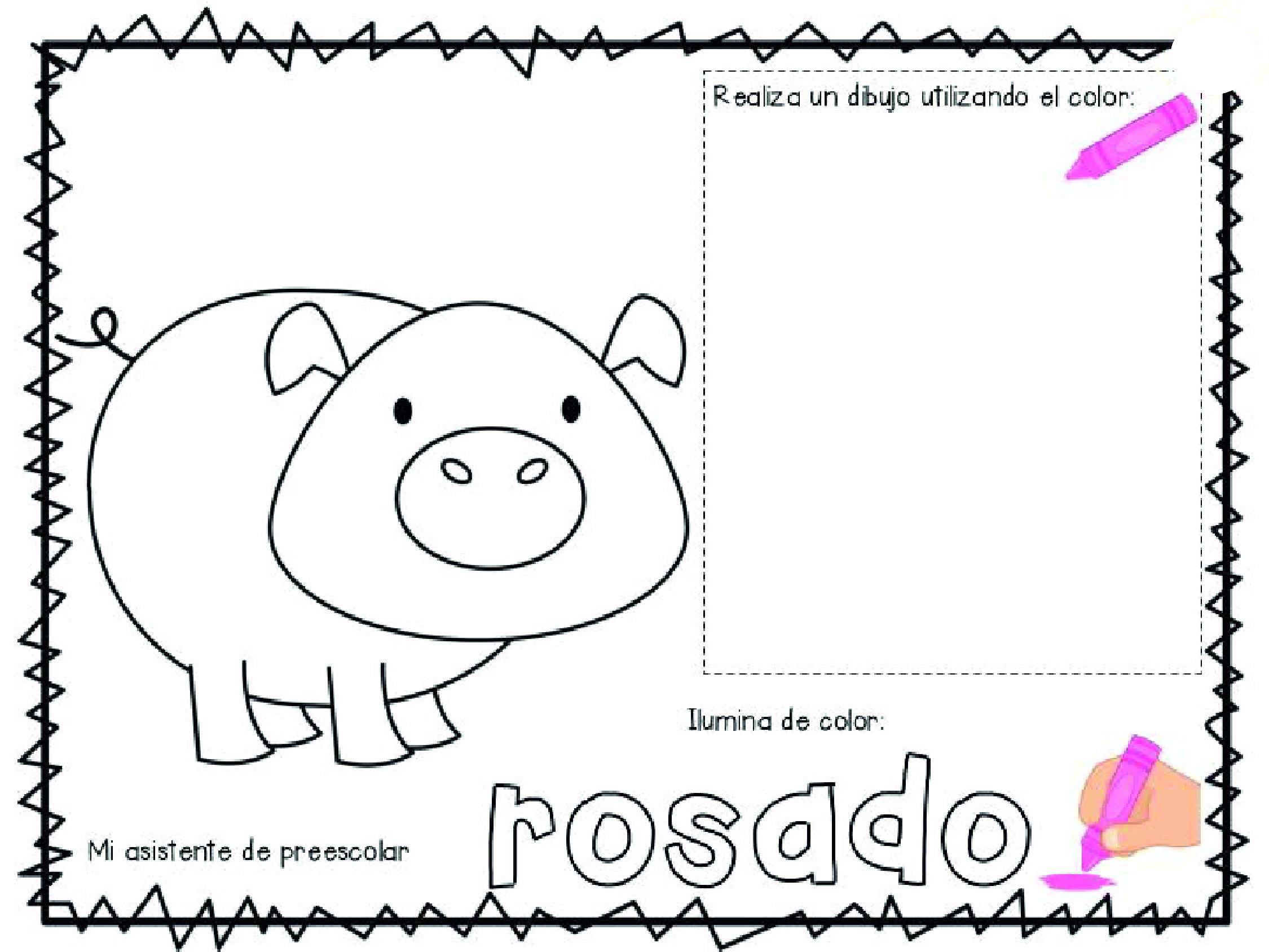 Clase De Los Colores Para Preescolar Pdf De Actividades