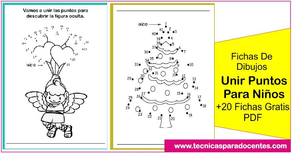 Fichas De Dibujos Unir Puntos Para Niños 23 Fichas