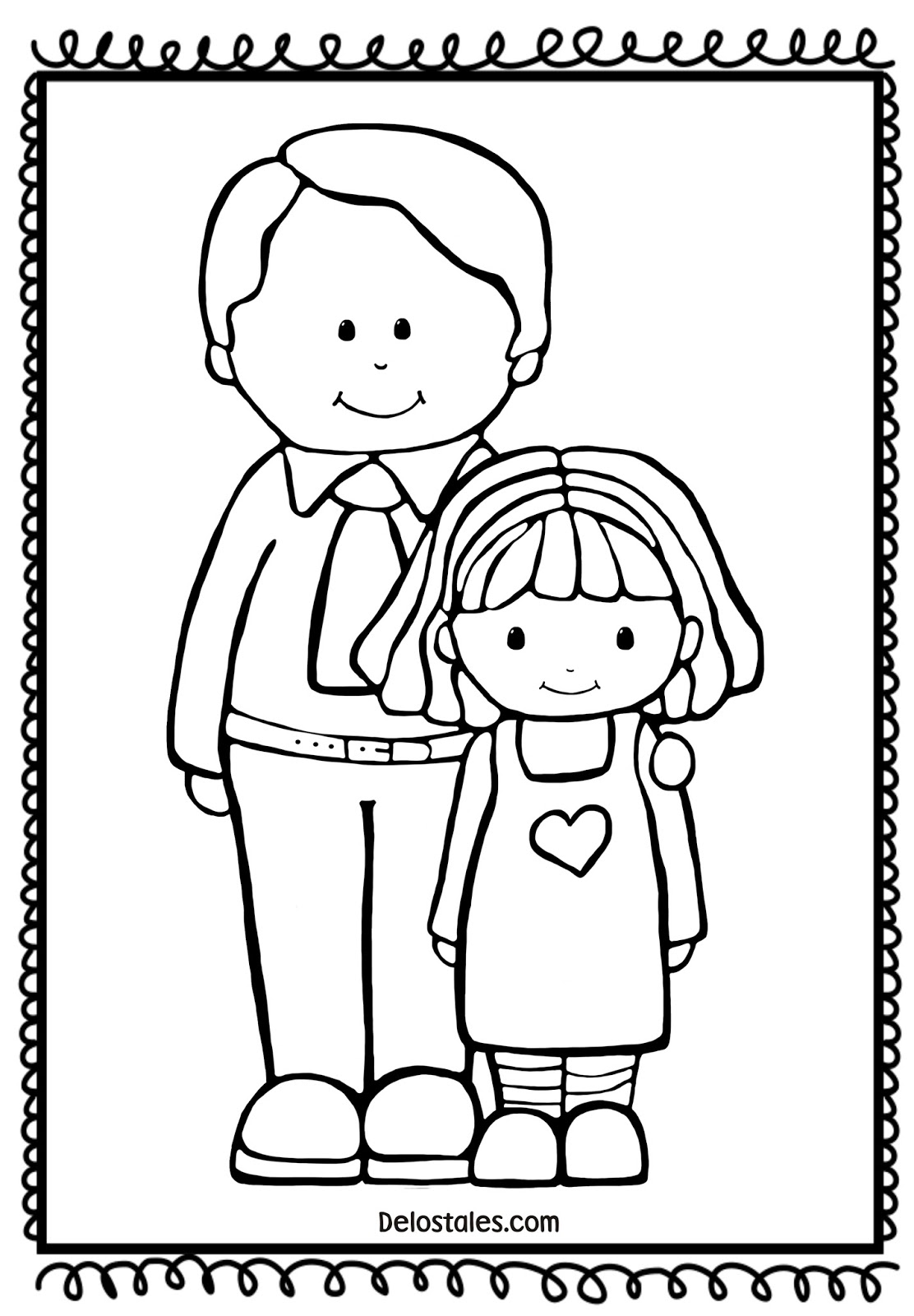 Dibujos Para Colorear Para El Dia Del Padre Gratis 60 Imágenes Del