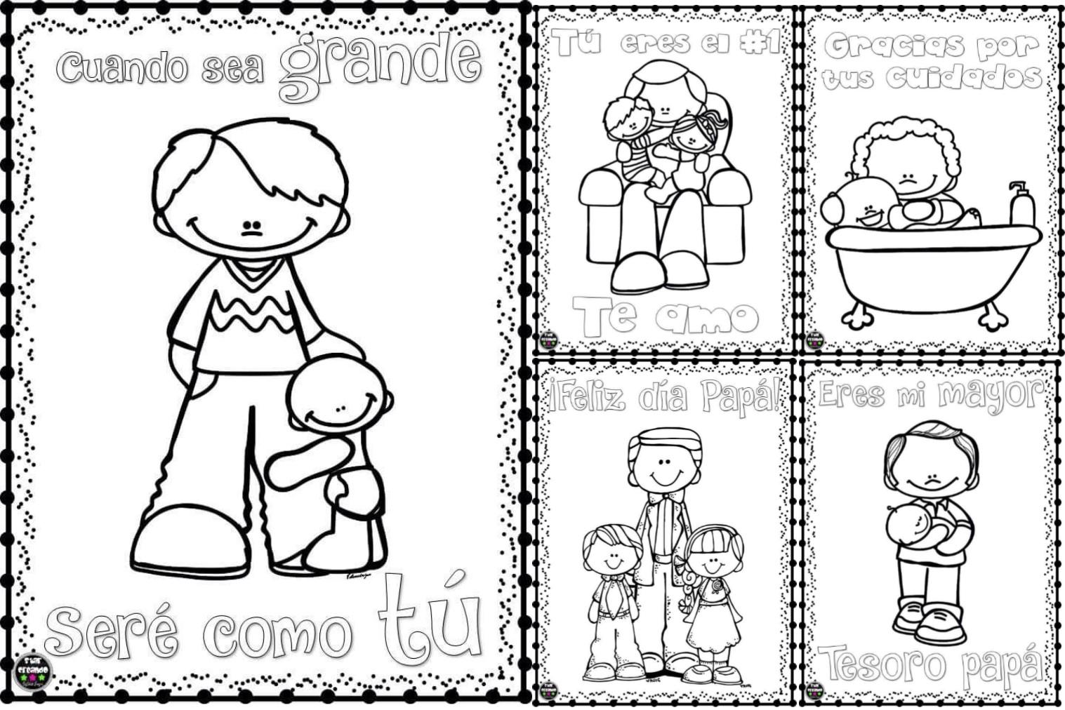 Pdf dibujos para colorear para el d a del padre preescolar for Cuarto de los padres blancos