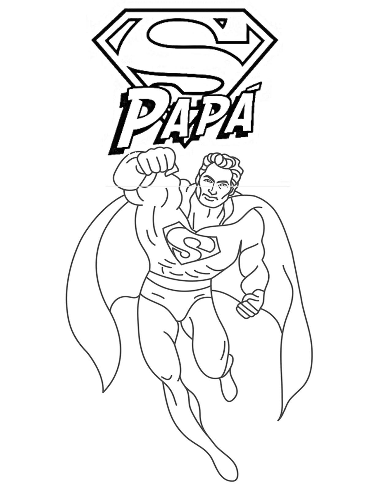 ▷ PDF: Dibujos para colorear para el día del padre - Preescolar
