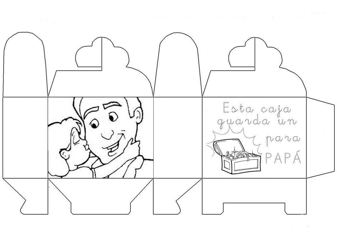 Libreta Para Niños Con 25 Dibujos Para Colorear: PDF: Dibujos Para Colorear Para El Día Del Padre