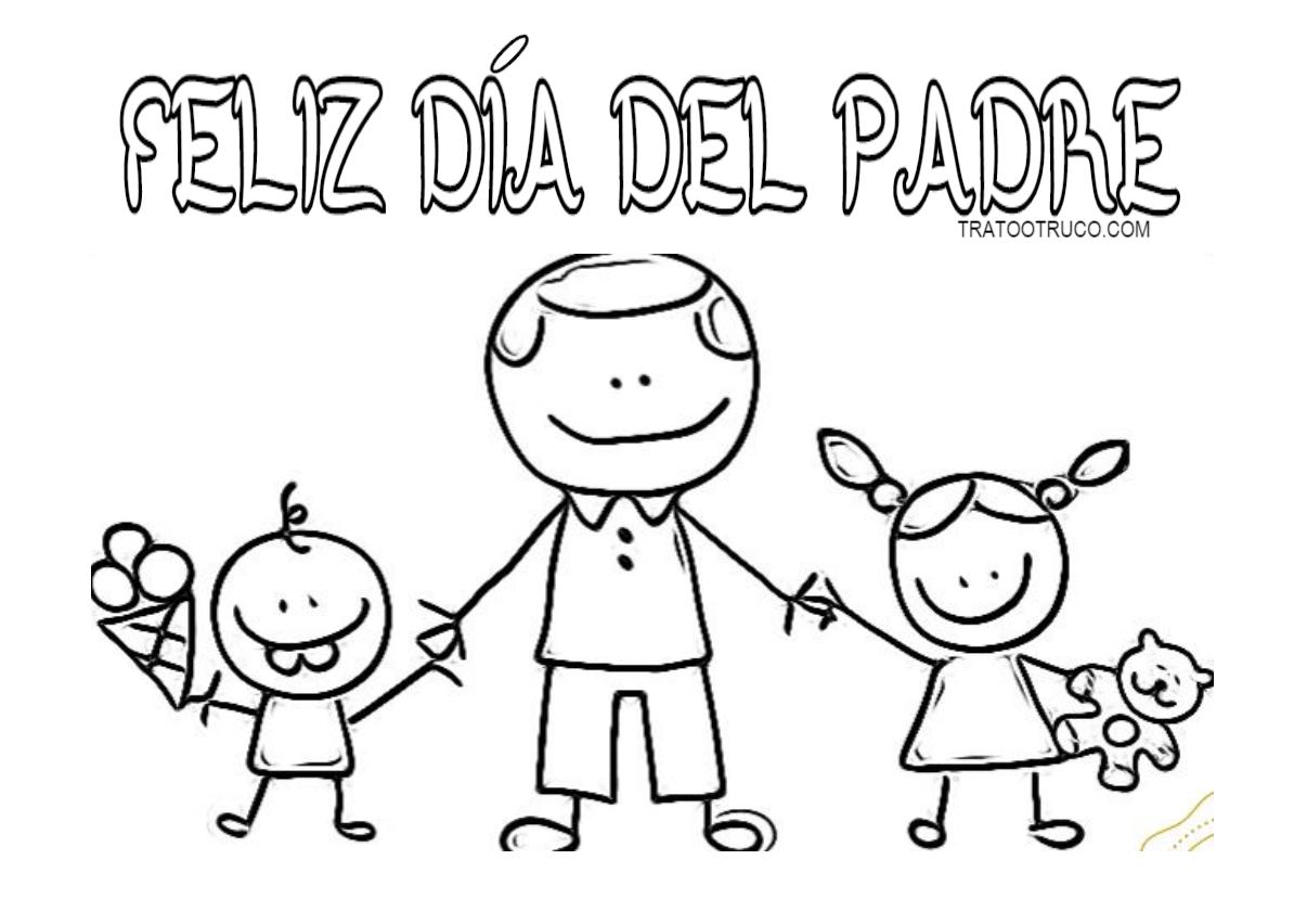 Magnífico Páginas Para Colorear Para El Día De Padres Regalo ...