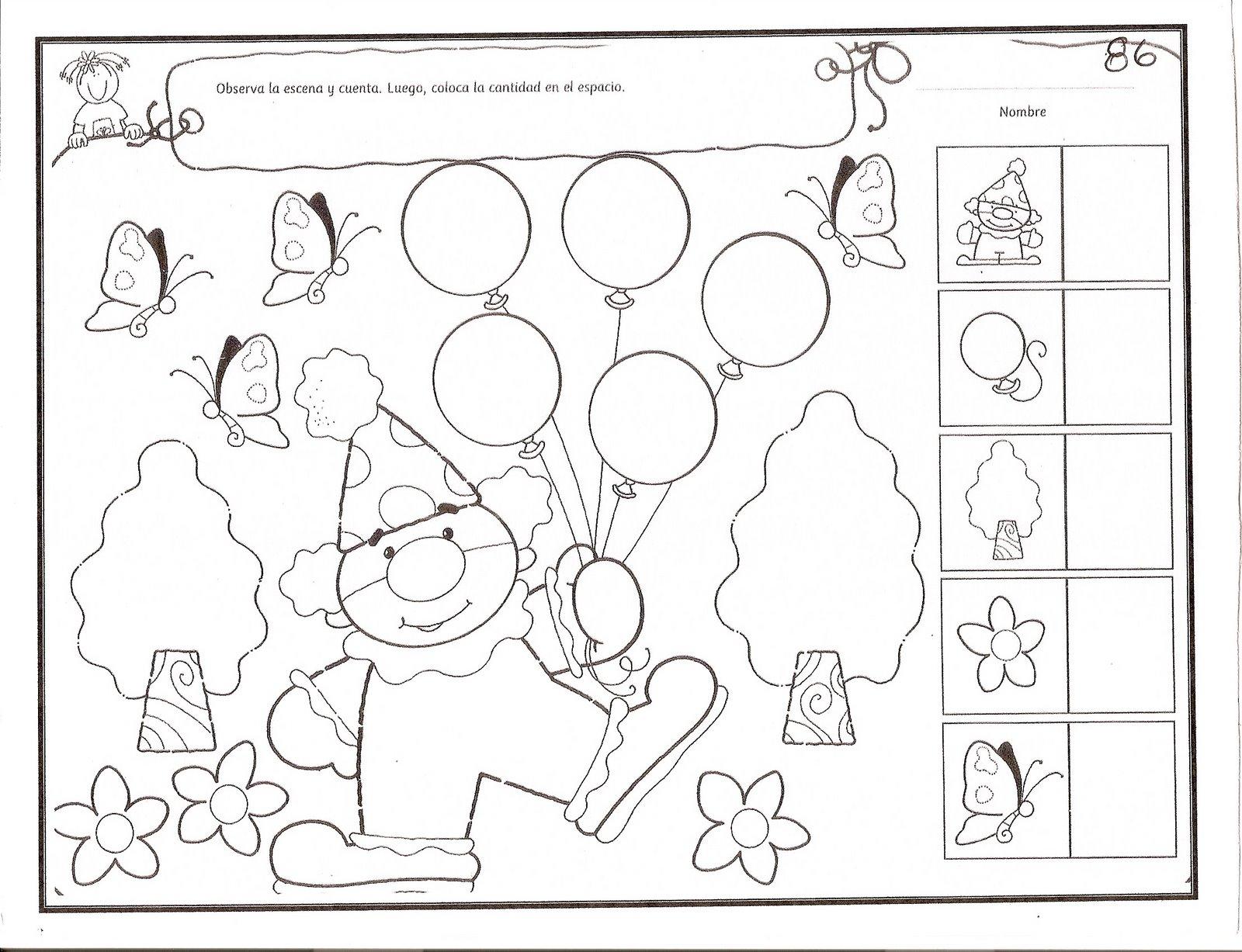 ▷ [PDF] Fichas de Pensamiento Matemático para Preescolar