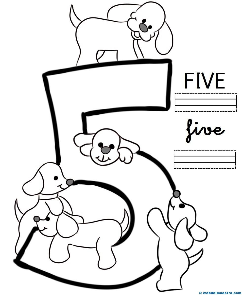 Pdf Fichas Para Aprender Los Números En Ingles Para Niños
