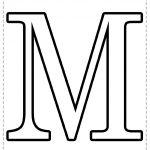 Letra del alfabeto para imprimir M