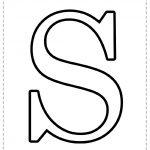 Letra del alfabeto para imprimir S