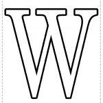 Letra del alfabeto para imprimir W
