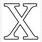 Letra del alfabeto para imprimir X