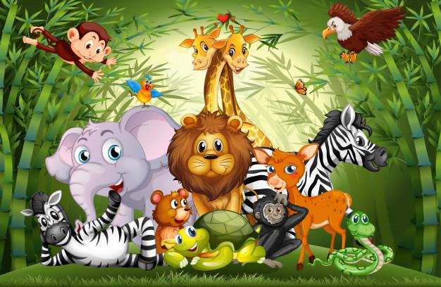 muchos animales